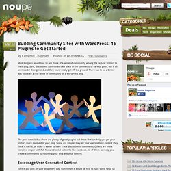 Building Community Sites with WordPress: 15 Plugins to Get Started - Noupe Design Blog