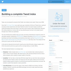 Building a complete Tweet index