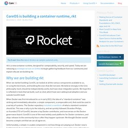 is building a container runtime, Rocket
