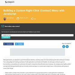 Building a Custom Right-Click (Context) Menu with JavaScript