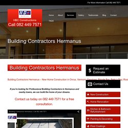 Building Contractors Hermanus