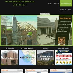 Building Contractors Somerset West Projects
