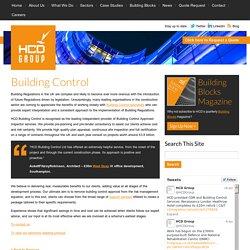Building Control - HCD - HCD
