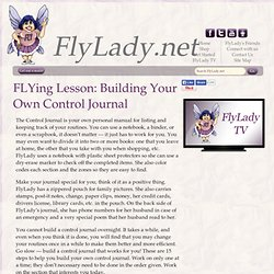 Building Your Own FlyLady Journal