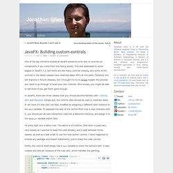JavaFX: Building custom controls