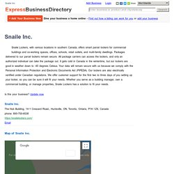 Snaile Inc., The Hub Building, 14-1 Crescent Road,, Huntsville, ON, Toronto, Ontario, P1H 1Z6, Canada