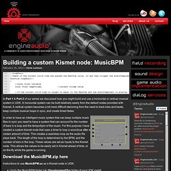 Building a custom Kismet node: MusicBPM