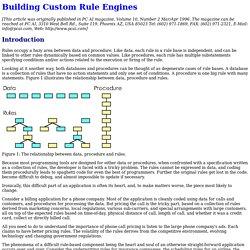 Building Custom Rule Engines
