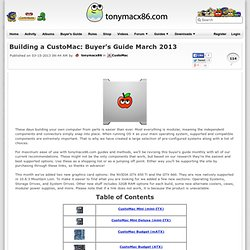 Building a CustoMac: Buyer's Guide March 2013