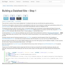 Building a Datafeed Site – Step 1