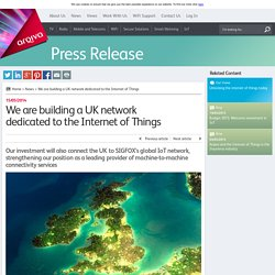 We are building a UK network dedicated to the Internet of Things - Arqiva