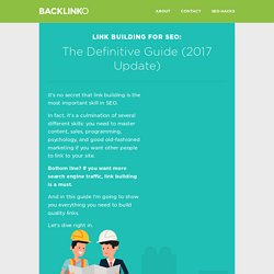 Link Building: The Definitive Guide