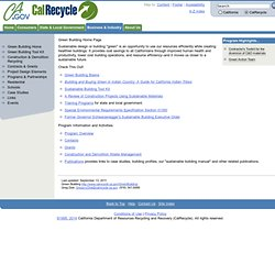Green Building Design and Construction Home Page