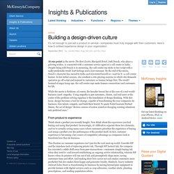 Building a design-driven culture