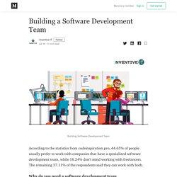 Building a Software Development Team