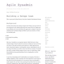 Building a Devops team -