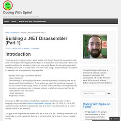 Building a .NET Disassembler (Part 1)