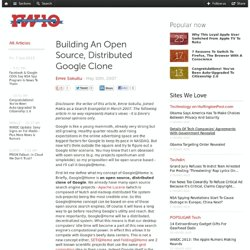 Building An Open Source, Distributed Google Clone