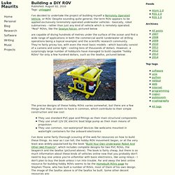 Luke Maurits » Blog Archive » Building a DIY ROV