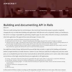 Building and documenting API in Rails
