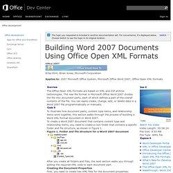 Open xml pearltrees - Office open xml format or open document format ...