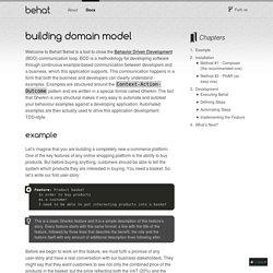 Building Domain Model — Behat 3.0.12 documentation