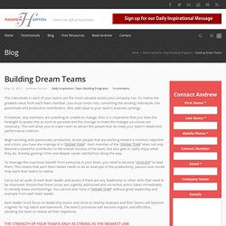 Building Dream Teams