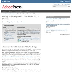 Building Mobile Pages with Dreamweaver CS5.5 > Dreamweaver Responds to the Need for Mobile-Friendly Pages