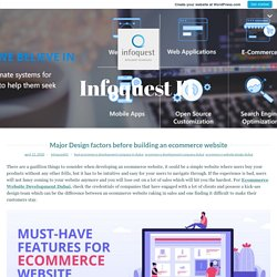 Major Design factors before building an ecommerce website – Infoquest IT