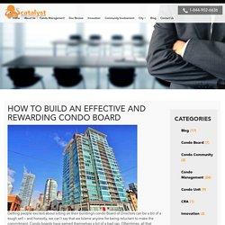 Building an Effective Condo Board of Directors