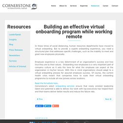 Building An Effective Virtual Onboarding Program While Working Remote - Cornerstone India