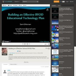 Building an Effective School BYOD Plan