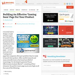 Building An Effective 'Coming Soon' Page For Your Product - Smashing Magazine