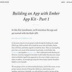 Building an App with Ember App Kit - Part 1 – Jason Kriss