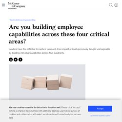 Are you building employee capabilities across these four critical areas?