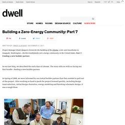 Building a Zero-Energy Community: Part 7