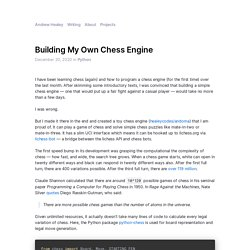 Building My Own Chess Engine — Andrew Healey