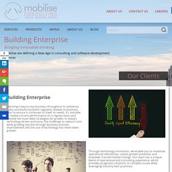 Building Enterprise - Mobilise Consulting