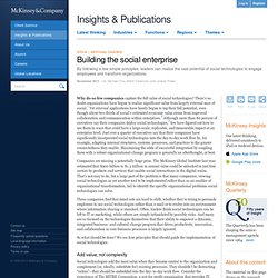 Building the social enterprise