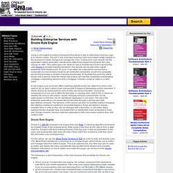 Building Enterprise Services with Drools Rule Engine