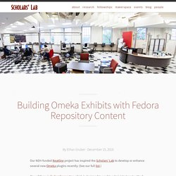 Building Omeka Exhibits with Fedora Repository Content