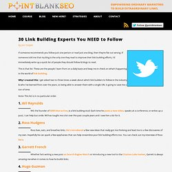 Link Building Experts - 30 to Follow on Twitter