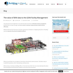The value of BIM to the Facility Management