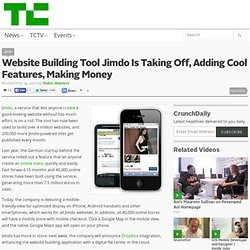 Website Building Tool Jimdo Is Taking Off, Adding Cool Features, Making Money