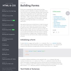 Building Forms - Learn to Code HTML & CSS
