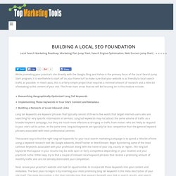 "Building a Local SEO Foundation - ""Coffee Break Marketing"" The Top Tools for Marketing Your Services!"