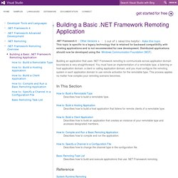 Building a Basic .NET Framework Remoting Application