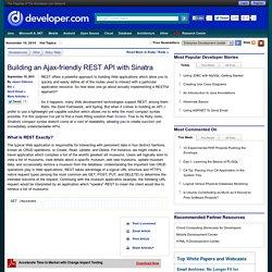 Building an Ajax-friendly REST API with Sinatra