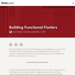 Building Functional Footers « Fonts.com Blog
