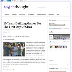 10 Team-Building Games For The First Day Of Class